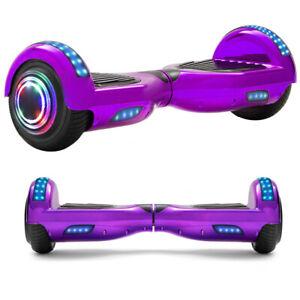 Hoverboard Lila 6,5 Zoll Elektro Scooter Bluetooth Selbst ElektroRoller Kinder