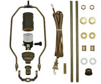 Antique Brass Make-A-Lamp Kit With All Parts & Instructions for DIY Lamp Repair
