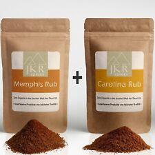 1kg BBQ Carolina Rub + 1kg Barbecue Memphis Rub Kombi Grillgewürz Angebot