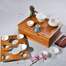 Dictionary Shape Traveller Bamboo Gongfu Teaset & 11 Pcs Teawares with Bag