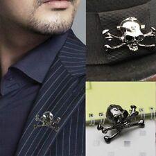 Punk Metal Skull Collar Pins Men Women Brooch Lapel Pins Men Suit Accessories