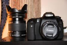 Canon EOS 60D Digital camera 18.0 MP SLR With 18-55mm + 50mm F/1.8. (3 LENS)