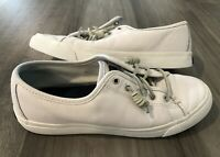 Sperry Top-Sider Size 8m Womens Sea Coast Core White Leather Sneakers
