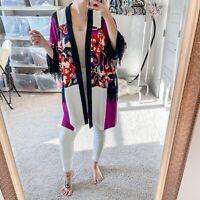 Rare Etro Women's Sz 48 US XL Signature Italian Boho Beaded Kimono Duster NWT