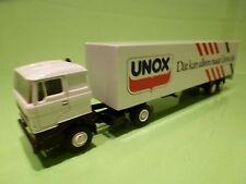 LION CAR 58 36 DAF 3300 UNOX TRUCK TRAILER - 1:50 - GOOD CONDITION
