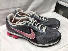 Nike Shox Zip 386382-061 Gray Pink Training Shoe Women's Size 10