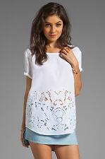 EUC Equipment Femme Silk Under the Sea Embroidery Top - White - Sz M - $278
