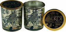 More details for set of 2 koi carp gold fish tranquility candles in glass containers with lids