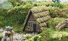 Fairy Garden Miniature ~ Viking Village Stone House ~ Mini Dollhouse