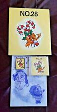 Tarjeta de bordado de hermano no 28 Navidad hermano máquinas de bordar Muy Raro