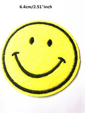 Embroidery Smiling face Sew On Patch Stickers Badge Embroidered Fabric Applique