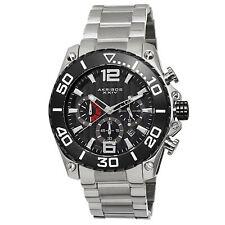 Homme Akribos Xxiv AK639BKS Sport Chronographe Date Acier Bracelet Acier Montre
