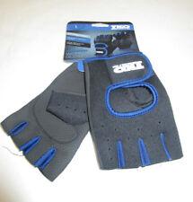 Mens TKO Black Weight Lifting Workout Gloves Black Royal Blue Large
