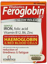 4 x Vitabiotics Feroglobin B12 Capsules 30 **IRON**