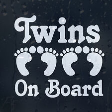 Twins On Board Funny Print Foots Car Decal Vinyl Sticker