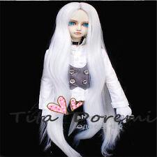 """Bjd Doll Wig 1/3 8-9"""" Dal Pullip AOD DZ AE SD DOD LUTS Dollfie white Toy Hair"""