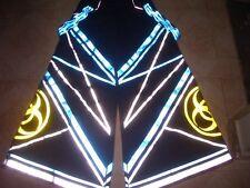 Raver ore Techno Hardstyle Tanz Hose fluoreszierend Shuffle DJ PHAT Pants n40