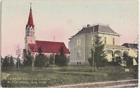 c1910 BLACK CREEK Wisconsin WI Postcard ST MARY'S CATHOLIC CHURCH