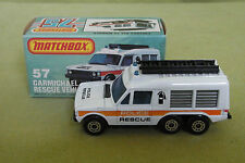 Modello di auto-MATCHBOX 75-Carmichael Rescue Vehicle 57-LESNEY-IN SCATOLA ORIGINALE