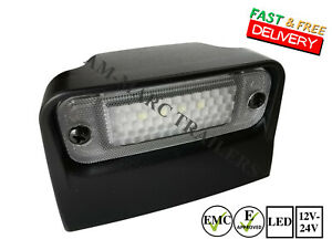 Universal Led Number Plate Light Lamp Truck Trailer Lorry