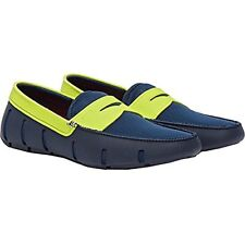 a6c96158af4 SWIMS Men s Penny Loafer Driving Moccasin Loafers Shoes Navy green 12 US
