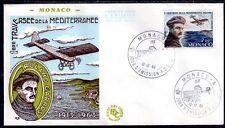 MONACO FDC - PA 81 1 - ROLAND GARROS AVION - 12 Decembre 1963 - LUXE