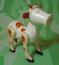 Vintage Fisher-Price Original Little People Cow Moving Legs, Tail & Swivel Head