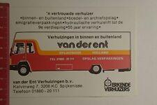 Aufkleber/Sticker: Van der ent Spijkenisse Holland (06011755)