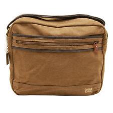 Troop London - Brown Classic Canvas Tablet Friendly Messenger Bag