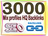 3000 HQ. Mix profiles PR6 bis zu PR9 Backlinks Boost SEO