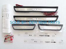 2014 2015 Kia Soul Illuminated Door Trim Sill Plates Genuine OEM NEW B2F45-AB000