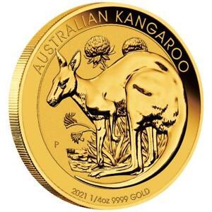Australien - 25 Dollar 2021 - Kangaroo / Känguru - Anlagemünze - 1/4 Oz Gold ST