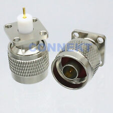 1pce N male plug flange deck mount solder cup RF connector