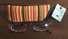 Striped Plastic Reading Glasses+3.50 Strength Light Weight NWT! MSRP $12.99