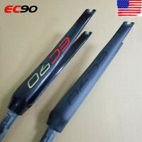 "EC90 28.6mm(1-1/8"")*700C Carbon Fork Matt/Gloss Road Bike Bicylce Straight Forks"
