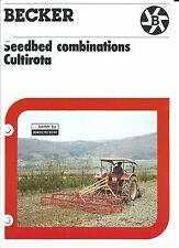 Farm Implement Brochure - Becker - Cultirota - Seedbed Preparation (F4848)