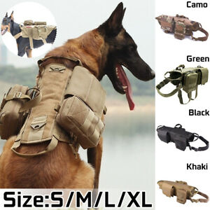 Army Tactical Dog Vests Sets Military Dog Clothes training Load Bearing   A
