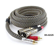 12ft CablesOnline Pro Series 2-RCA Male to 2-XLR Male Audio Cable - XR-A212S