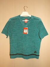 Women's Nike Sportswear Tech Knit Crop Top Teal Size Medium 728679 351 Brand New