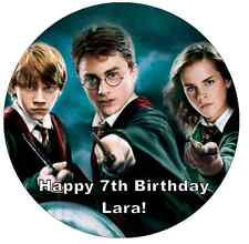 "Harry Potter Personalised Wafer Paper Topper For Large Cake Various Sizes 7.5"" ."