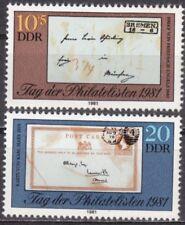 DDR Mi.-Nr. 2646-2647 postfrisch Tag der Philatelisten 1981