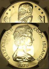 Cook Islas 1978-FM Dólar NGC MS-67 ~ Extremadamente Raro 767 Minted ~Tangaroa~