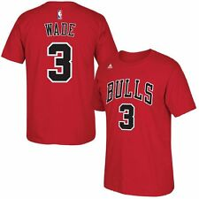Chicago Bulls Youth Dwyane Wade #3 Adidas Red Name and Number Shirt