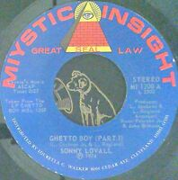 Funk 45 Sonny Lovall Ghetto boy Pt. I & II Miystic Insight 1200 Near Mint-
