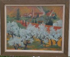 Fiesole, Florence, Italy Landscape 16 x 20 Inch Oil Painting-1986-August Mosca