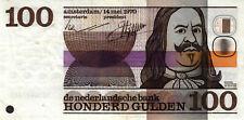 05 Netherlands / Niederlande P93 100 Gulden 1970