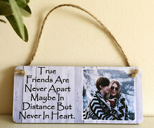 6x3'' Personalised Photo and Quote Plaque Birthday Christmas Best Friend Gift