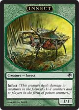 10 Token Cards - INSECT- Scars of MIrrodin - SAME ART - NM/SP - Magic MTG FTG
