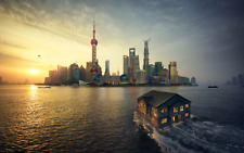 Shanghai Sunset 2 Large Poster Wall Art Print Deco Home - A0 A1 A2 A3 A4