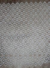 """1 yard WHITE Venise Guipure victorian lace scalloped  trim 17"""" extra wide"""
